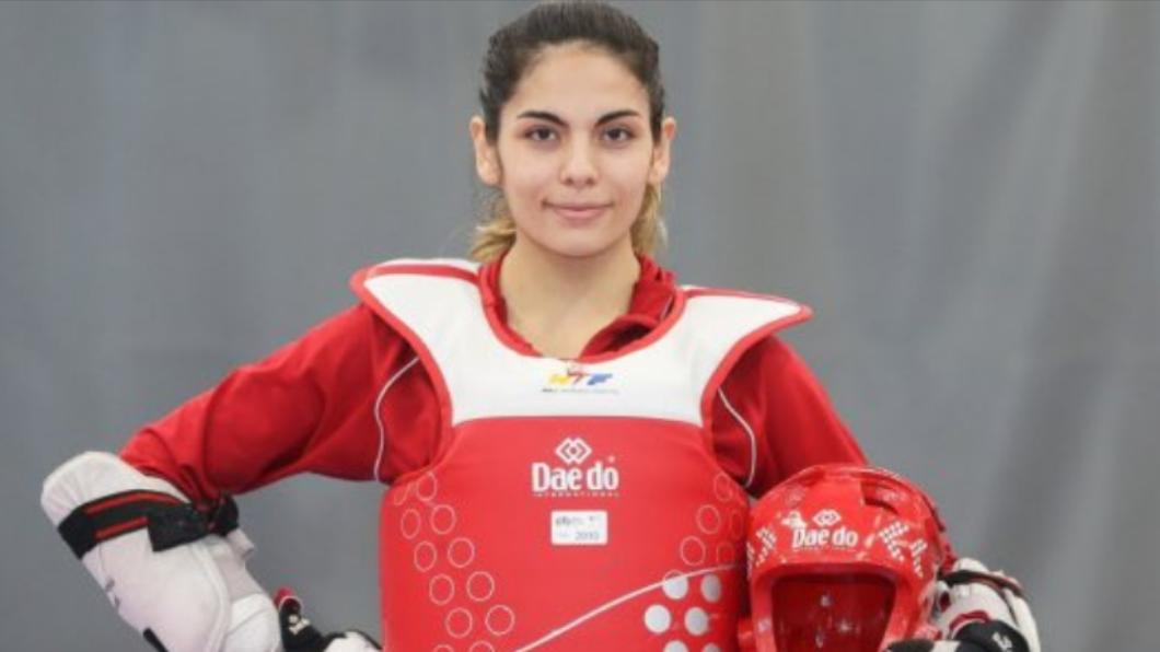 阿吉雷因確診退出奧運。(圖/翻攝自@fvenegasf推特) 首位染疫退賽選手!智利跆拳道女將確診無緣東奧