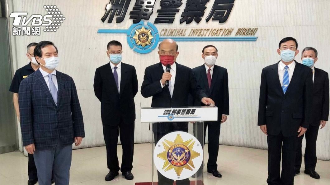 (圖/中央社) 全國防疫警戒掃黑緝毒 查獲幫派組織40件290人