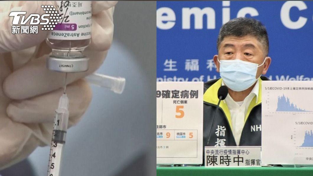 AZ疫苗及指揮中心指揮官陳時中。(圖/TVBS、指揮中心提供) 專業變請客?幫打疫苗零收入 基層醫轟:陳時中打算賴帳