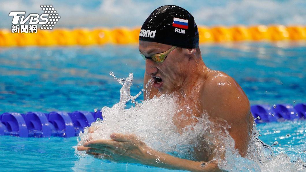 俄國泳將鮑羅廷確診。(圖/達志影像美聯社) 東奧奪牌夢碎再添一人 俄國泳將鮑羅廷染疫退賽