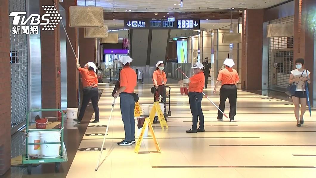 (圖/TVBS) 北市公布CITYLINK松山店員工足跡 搭火車上下班