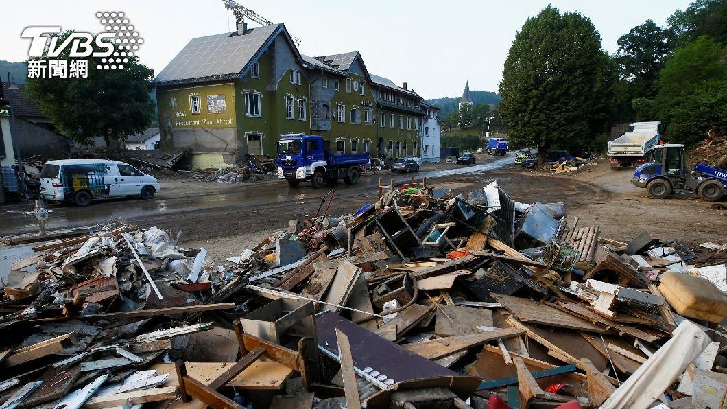 (圖/達志影像路透社) 暴雨洪災襲擊西歐 德國批准132億元援災民重建