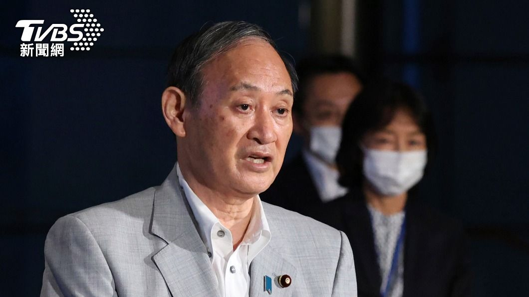 日本首相菅義偉。(圖/達志影像美聯社) 菅義偉將出馬與輝瑞會談 盼提早交貨2千萬劑疫苗