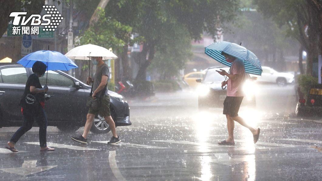 (圖/中央社) 颱風烟花仍有增強趨勢 北北基等9縣市注意大雨