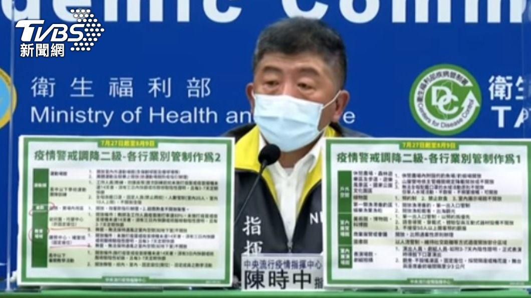 指揮官陳時中。(圖/TVBS) 三級警戒逾2月終降級 陳時中:我也戒慎恐懼