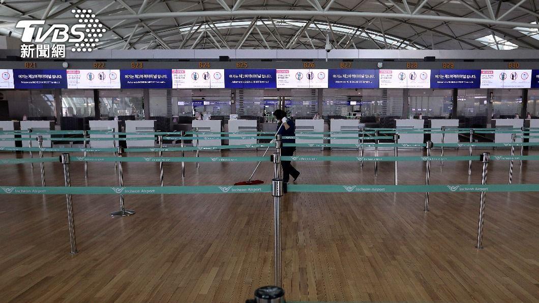 韓國與塞班島簽「旅遊泡泡」,將從仁川機場啟航。(圖/達志影像美聯社) 韓國與塞班島簽訂「旅遊泡泡」 疫情下力拼觀光商機