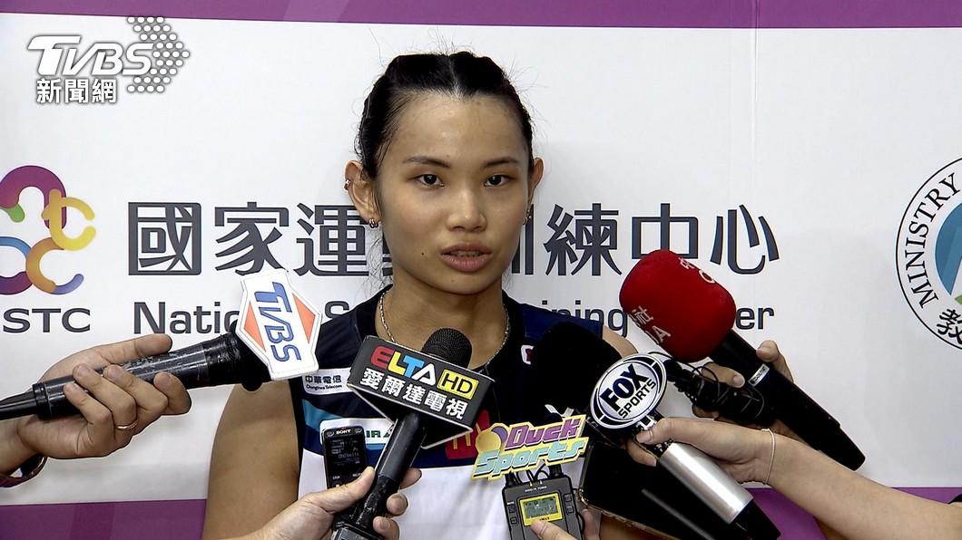 圖/TVBS 快訊/球后「戴資穎」東奧首戰25min 速殺對手獲勝