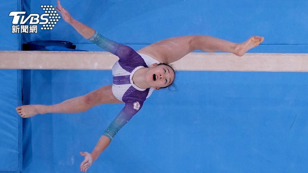 年僅18歲丁華恬今日出征競技體操女子全能。(圖/達志影像美聯社) 睽違51年!丁華恬今出征競技體操女子全能 練到腰傷