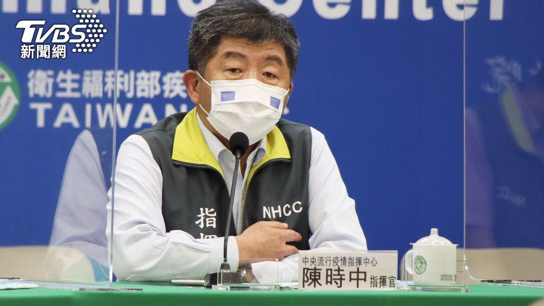 中央流行疫情指揮中心指揮官陳時中。(圖/TVBS) 爆氣嗆記者「態度不健康」 陳時中道歉:修養應該好一點