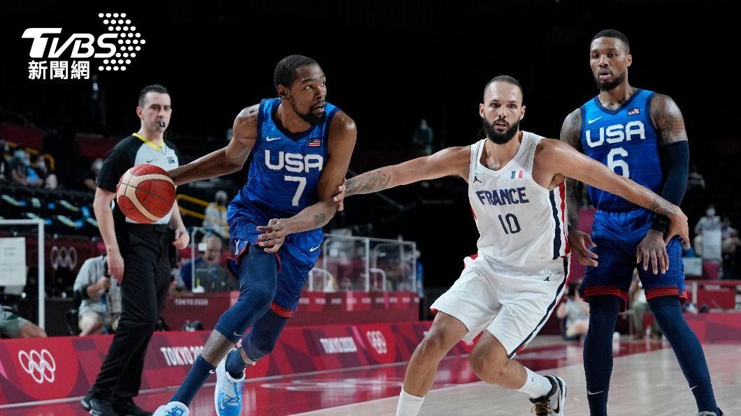 美國夢幻隊敗給法國隊。(圖/達志影像美聯社) 夢幻隊變噩夢!美國男籃首戰76比83輸法國隊