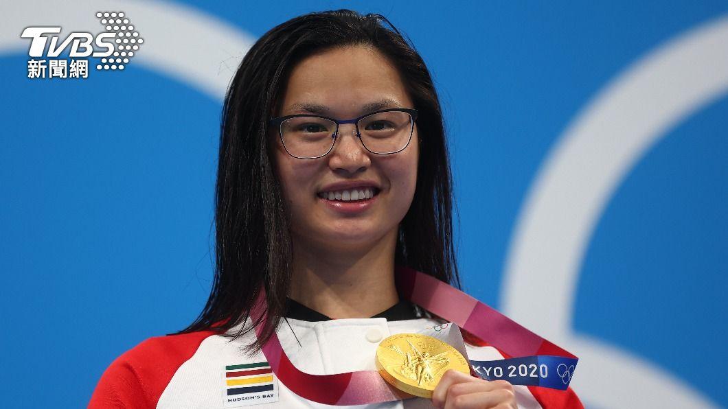麥尼爾為加拿大贏得本屆奧運首面金牌。(圖/達志影像路透社) 加拿大領養兒無懼疾患轉攻短程 挫陸仙氣蝶后奪奧運金牌