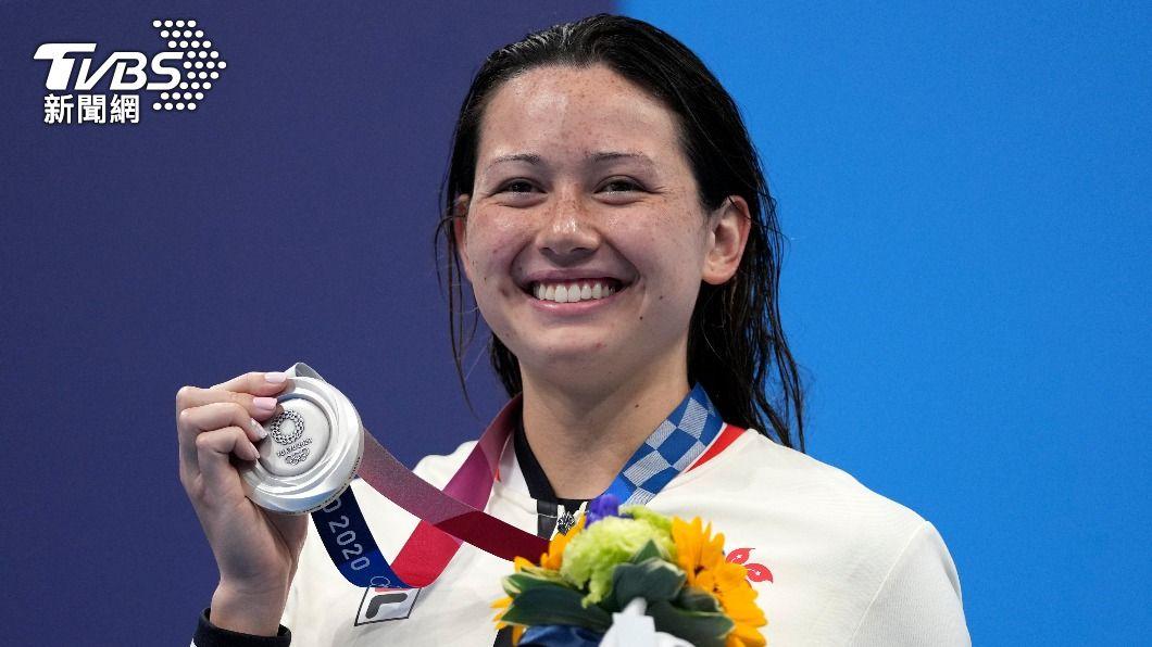 香港選手何詩蓓奪東奧女子200公尺自由式銀牌。(圖/達志影像美聯社) 香港首面奧運游泳獎牌 女子200公尺自由式奪銀