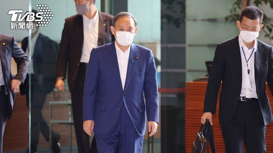 日相菅義偉表示不會停辦東奧。(圖/達志影像美聯社) 東京新增確診創新高 菅義偉:不會停辦東京奧運
