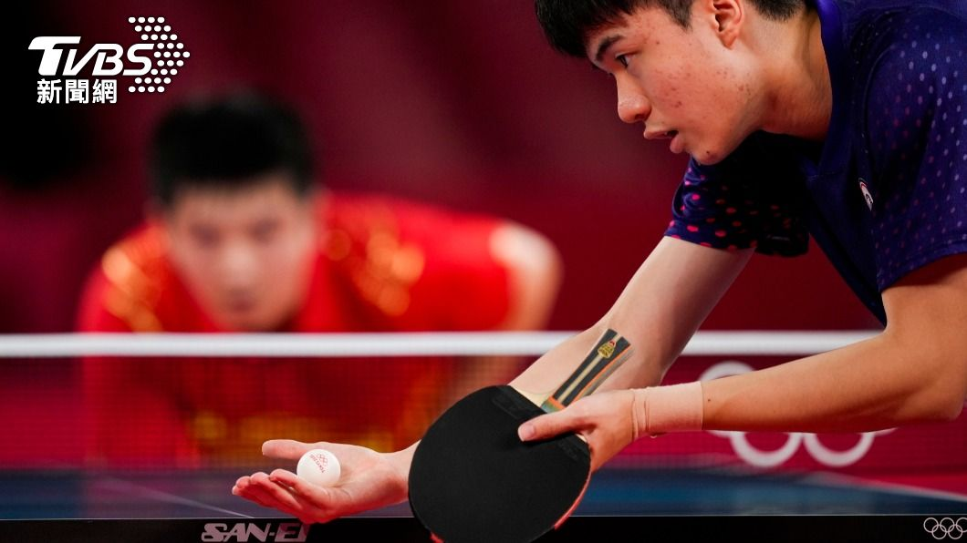 林昀儒對決世界球王。(圖/達志影像美聯社) 越級打怪!男單4強除林昀儒外 全是「球王」等級