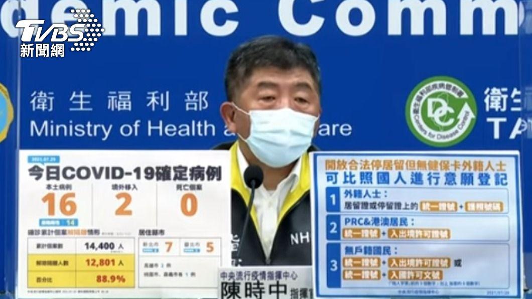 指揮官陳時中。(圖/TVBS) 陳時中:不以零確診為目標 但有零確診很高興