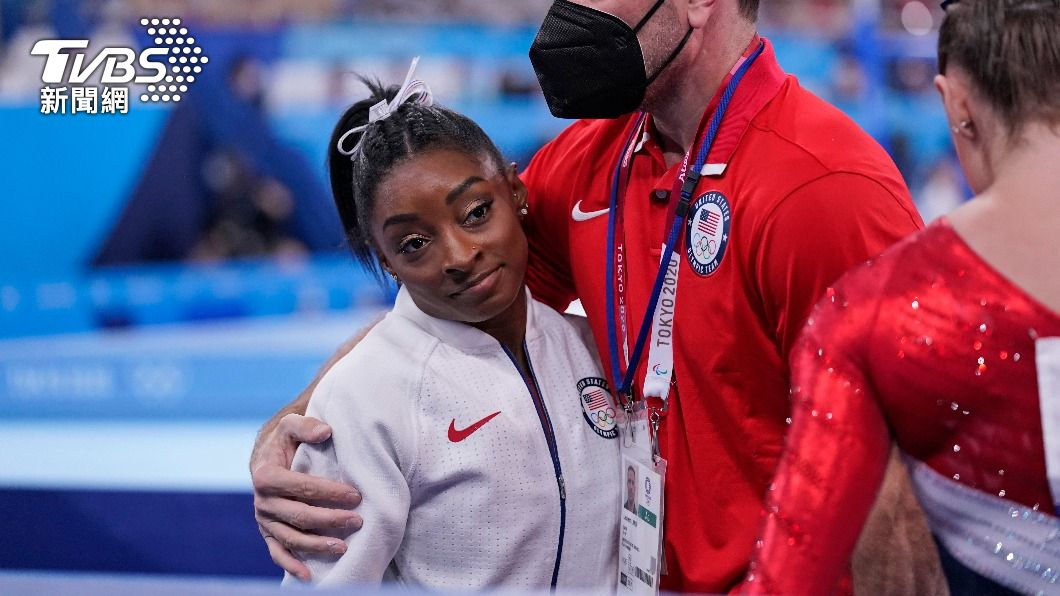 拜爾斯坦承自己心理健康出問題,決定退賽。(圖/達志影像美聯社) 美體操天后「黑珍珠」心理因素退賽 蜜雪兒歐巴馬力挺