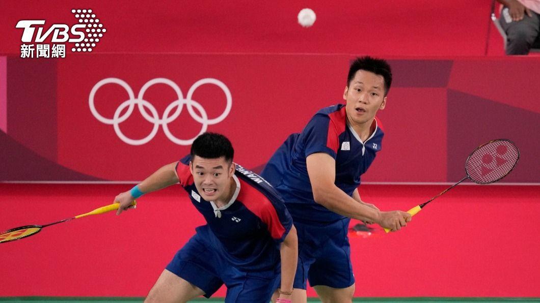 李洋、王齊麟為台灣「黃金羽球男雙」。(圖/達志影像美聯社) 立委跟風東奧又出包 蔣萬安搞錯羽球、籃球選手