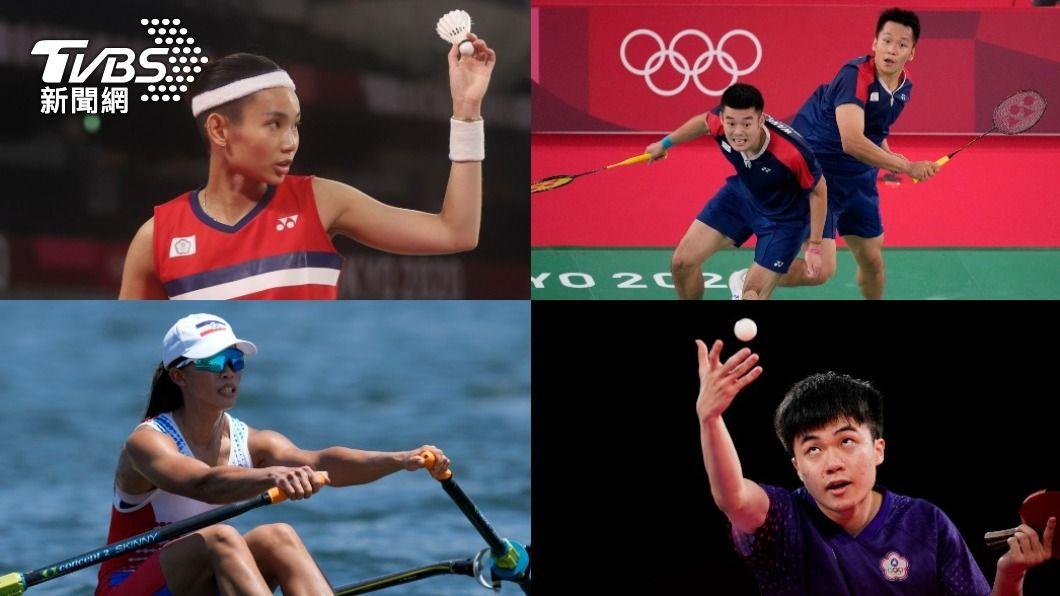 中華健兒們持續爭奪奧運獎牌。(合成圖/達志影像美聯社、李天助攝) 730東奧賽程/戴資穎、麟洋配出戰 林昀儒力拚銅牌