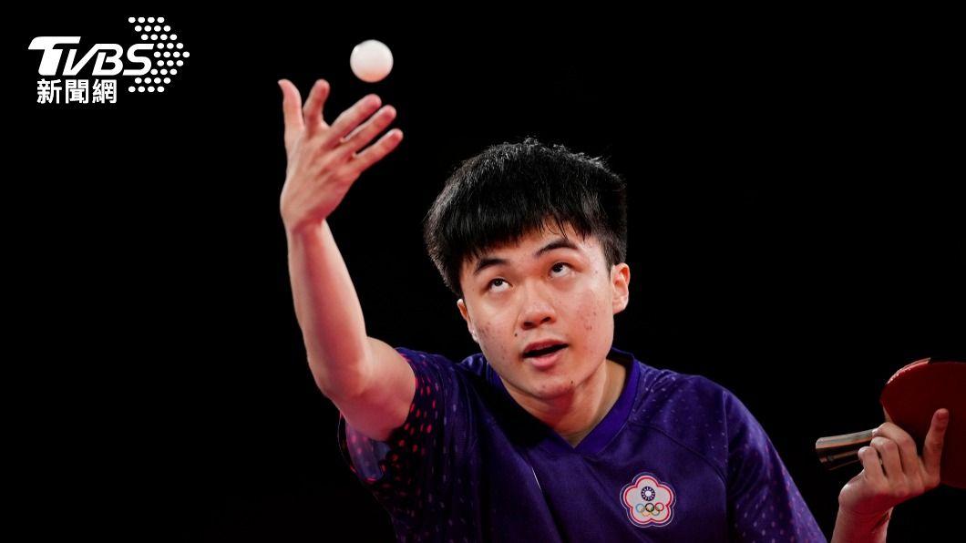 台灣桌球好手林昀儒在東京奧運表現亮眼。(圖/達志影像美聯社) 林昀儒10大貴人曝光 父揭兒成長史:登奧運非一己之力