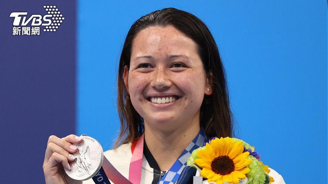 香港游泳選手何詩蓓。(圖/達志影像路透社) 香港何詩蓓奧運游泳再創佳績 奪女子100公尺自由式銀牌