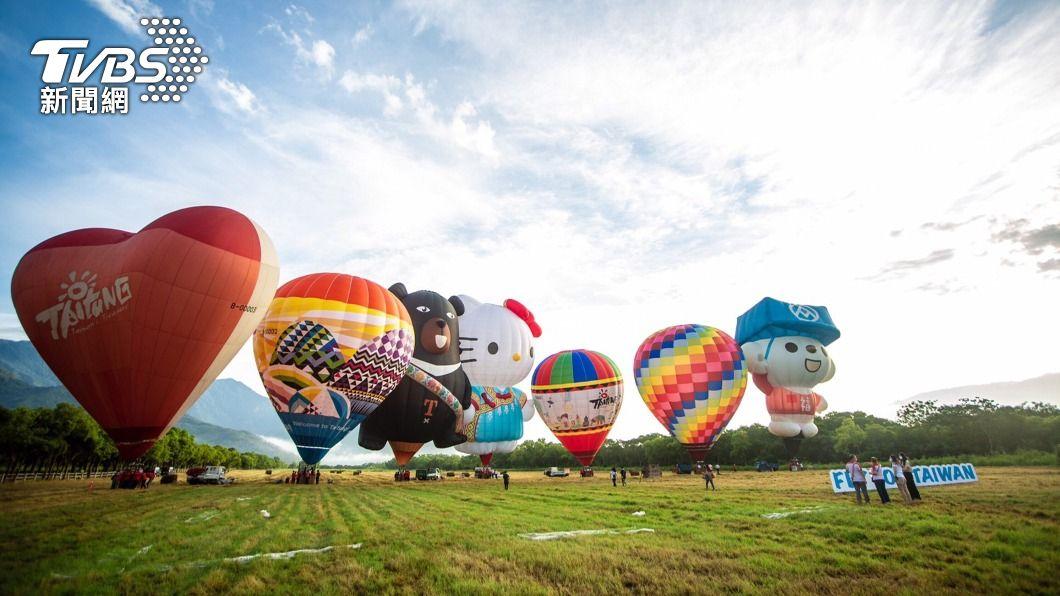 台東熱氣球嘉年華8月14日登場。(圖/中央社) 熱氣球嘉年華8月中登場 饒慶鈴拒接民眾反對連署書
