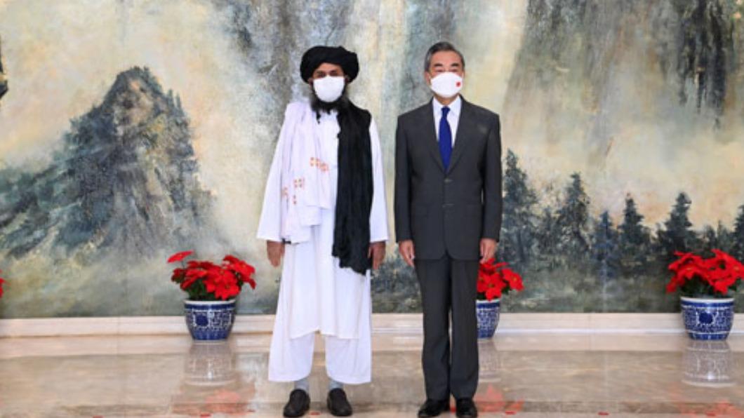 (圖/翻攝自陸外交部官網) 王毅會見塔利班 要求與東伊運等恐怖組織劃清界線