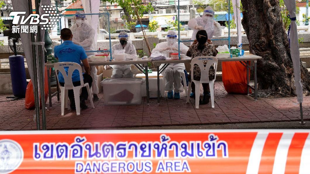 (圖/達志影像美聯社) 泰國疫情燒不停日增逾萬確診 英美日贈疫苗馳援