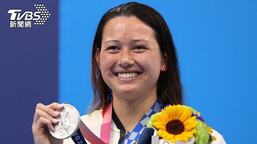 23歲香港混血泳將何詩蓓。(圖/達志影像路透社) 首位港將單屆奪2銀 「香港女飛魚」狂破亞洲紀錄