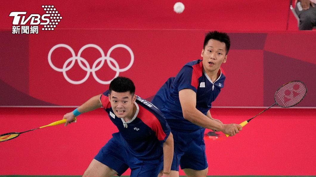 王齊麟和李洋闖進東奧金牌戰。(圖/達志影像美聯社) 「麟洋配」爭金牌不是做夢!王齊麟:把沒贏過的一次打完
