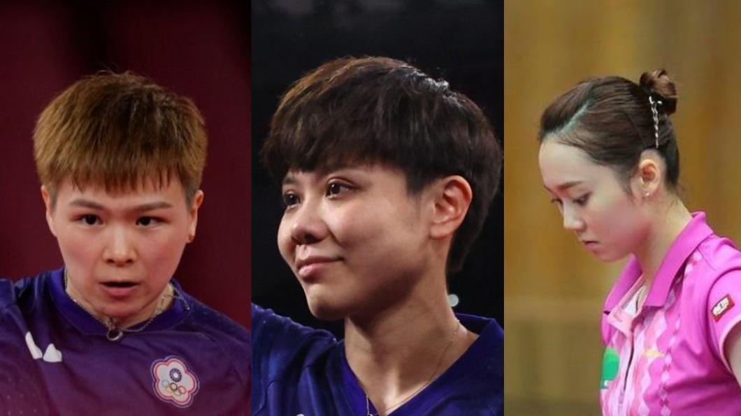 中華女子桌球團體賽晉級八強。(圖/達志影像美聯社)、(圖/翻攝自鄭先知IG) 力抗美國隊!台灣桌球女團16強賽直落三成功晉級