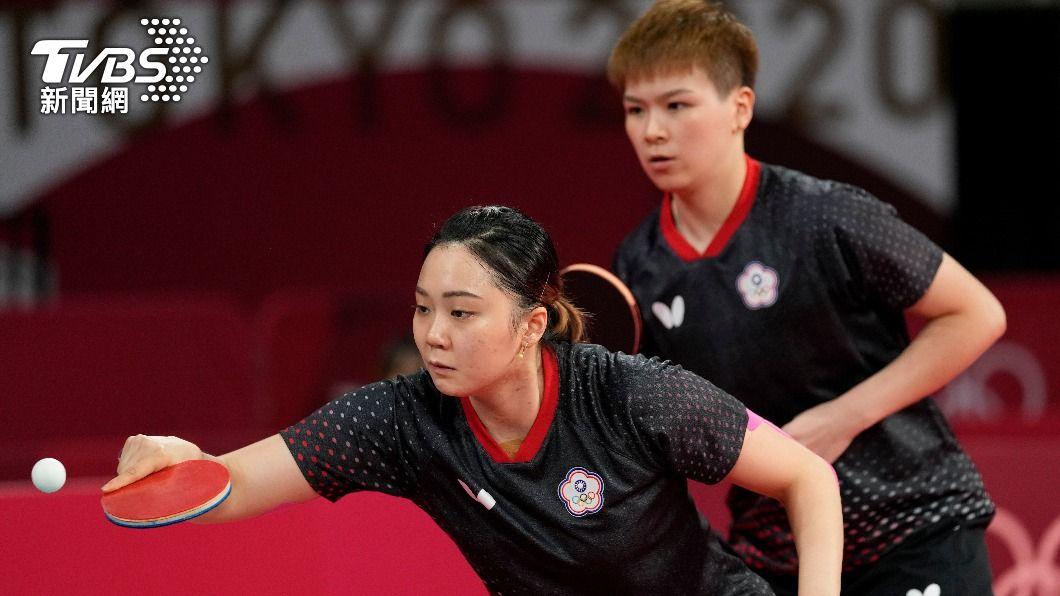 中華隊桌球女將鄭先知和陳思羽。(圖/達志影像美聯社) 802東奧賽程/打趴美國進8強 桌球女團2日對戰地主隊