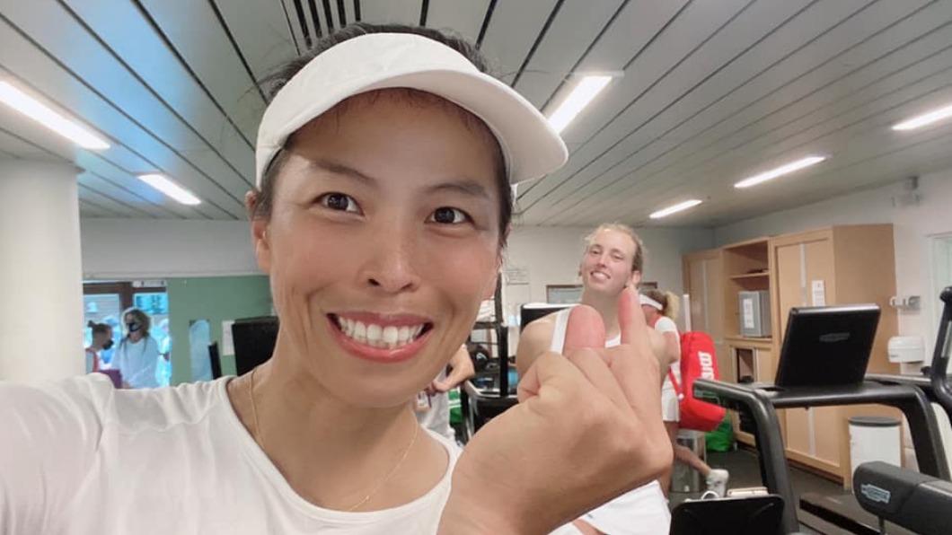 台灣網球好手謝淑薇。(圖/翻攝自謝淑薇臉書) 郭台銘喊金牌給1億!謝淑薇:台灣企業家令人感動