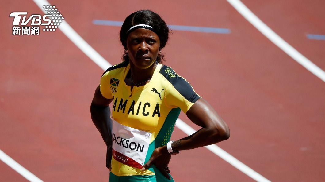 牙買加女將傑克森。(圖/達志影像路透社) 史上最大意!百米銅牌得主提前剎車 200米預賽遭淘汰