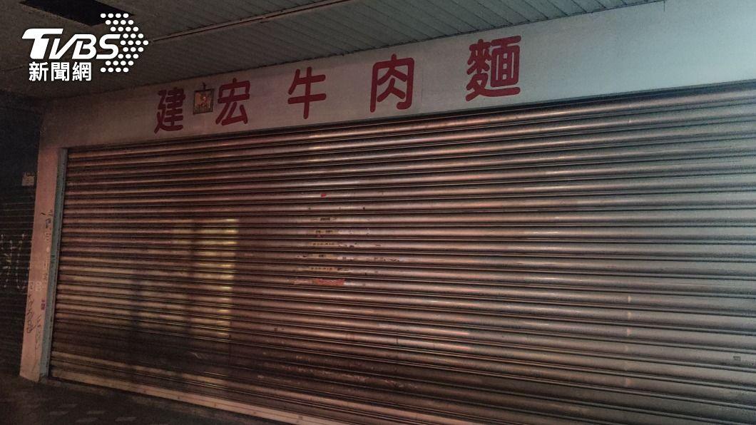 24小時名店建宏牛肉麵傳出歇業。(圖/TVBS) 台北24小時老店「建宏牛肉麵」驚傳收攤 老饕惋惜