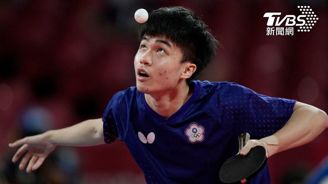 台灣桌球好手林昀儒。(圖/達志影像美聯社) 桌球男單世界排名 林昀儒打進東奧4強升「全球第5」