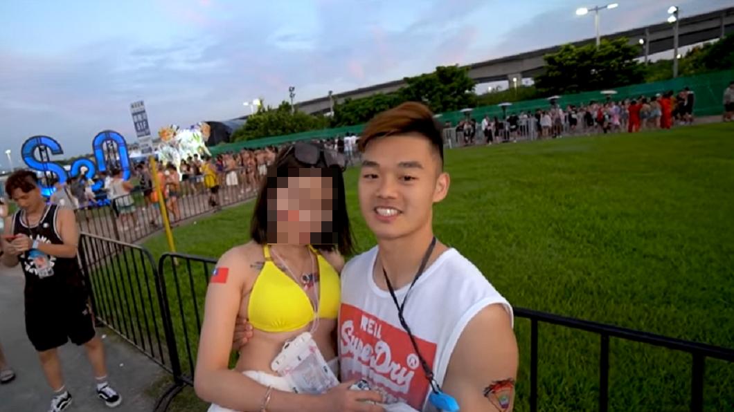 王齊麟去年曾上網紅黑男的YouTube與一名火辣美甲師配對。(圖/翻攝自黑男邱比特臉書粉絲團) 街頭配對給王齊麟「8分」 美甲師遭出征沉重發文
