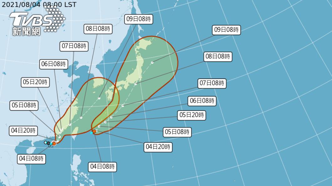 今年第九號颱風「盧碧」今日上午9時生成。(圖/氣象局) 輕颱「盧碧」生成了!恐增強西南風 週末中南部防雨