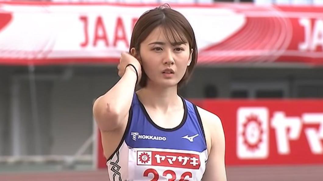 新一代田徑女神小玉葵水。(圖/翻攝自推特) 日本田徑女神美出新高度!川字腹肌吸睛 沒比奧運也爆紅
