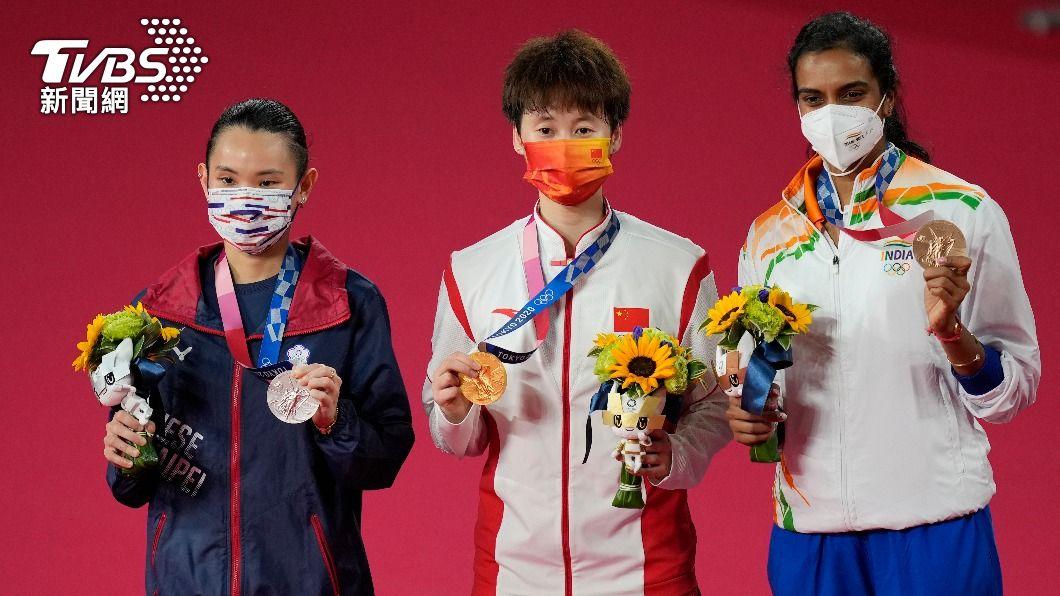 戴資穎先前在東京奧運羽球女子單打決賽成功鍍銀。(圖/達志影像美聯社) 林丹認證小戴實力較強! 陳雨菲「這一點」成致勝關鍵