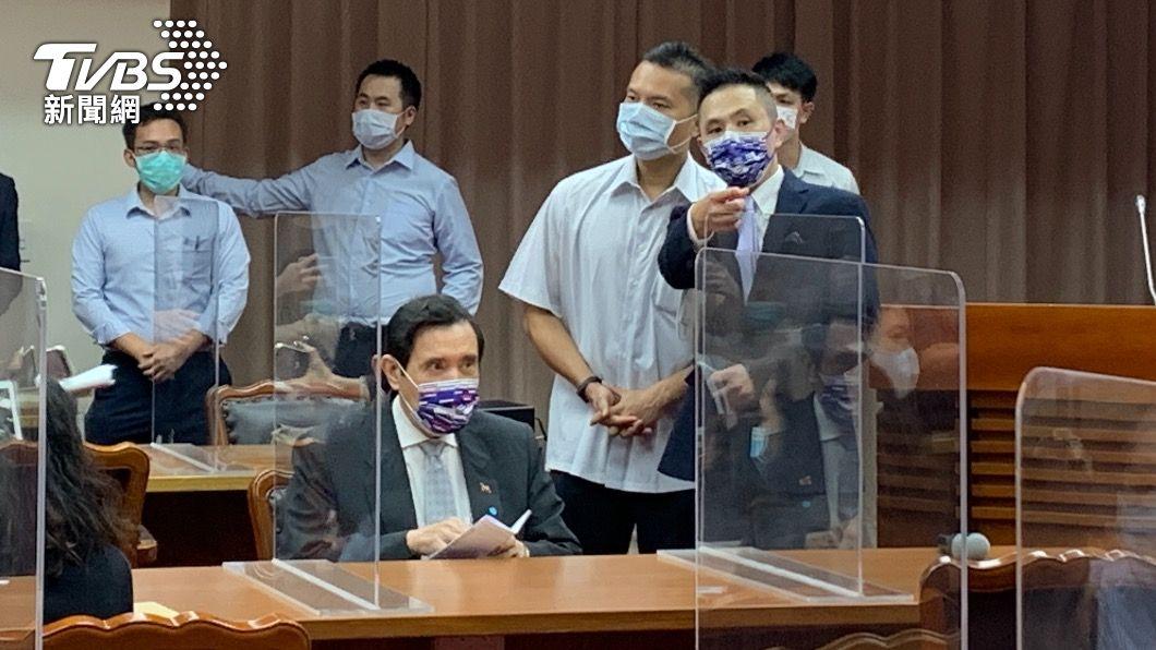前總統馬英九赴立法院出席新書發表會。(圖/TVBS) 黨魁之爭!朱、江隔空交火 馬英九:不能看成內鬥