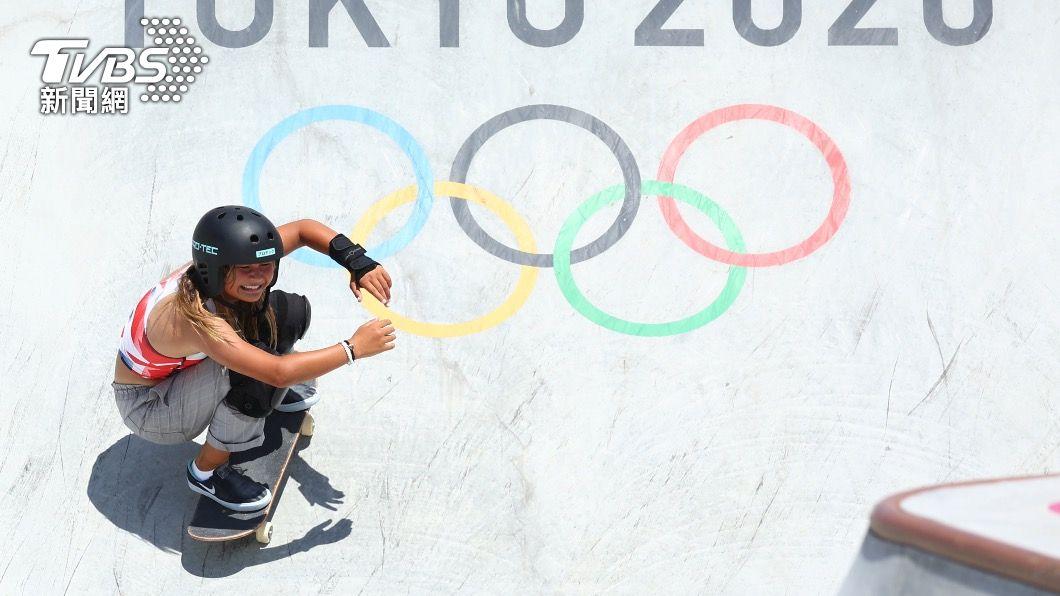 Sky Brown在滑板項目拿下銅牌。(圖/達志影像路透社) 差點沒命!13歲滑板小將高台摔下重傷 癒後復出奪銅牌