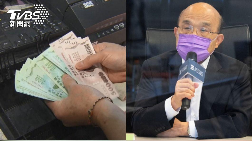 蘇貞昌堅持不發現金。(圖/TVBS資料照) 補助運將6萬現金「不會存起來」 蘇貞昌雙標五倍券被嗆爆