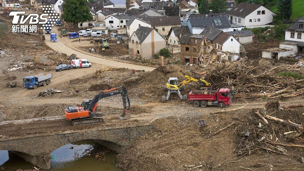 (圖/達志影像美聯社) 研究:氣候變遷加劇下 西歐洪災發生機率增至9倍