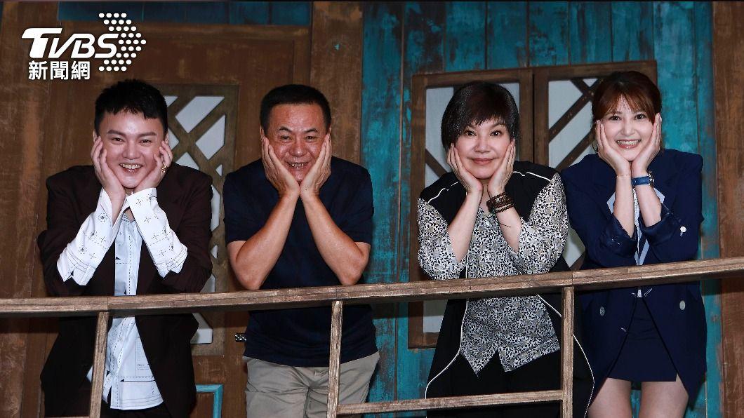許富凱(左起)、蔡振南、唐美雲、樓心潼合作新劇。(圖/公視台語台提供) 被許富凱圈粉!蔡振南「當眾告白」:我喜歡上他了