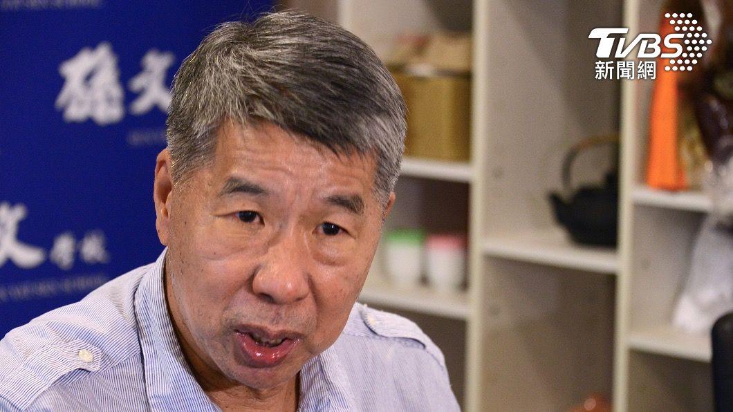 國民黨前主席張亞中。(圖/TVBS) 專訪/遭移送考紀會沒天理 張亞中轟:換柱2.0?