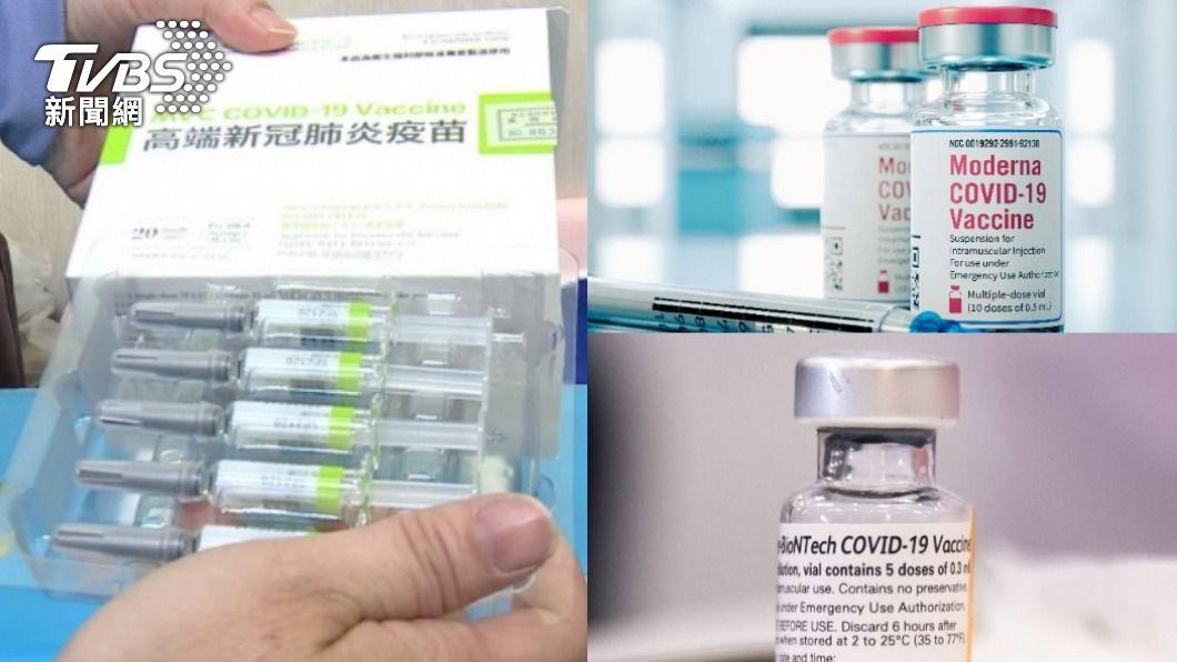 各品牌疫苗混打試驗引發熱議。(示意圖/TVBS、shutterstock達志影像) 莫德納+BNT不符合邏輯 專家揭原因:混打高端較可行