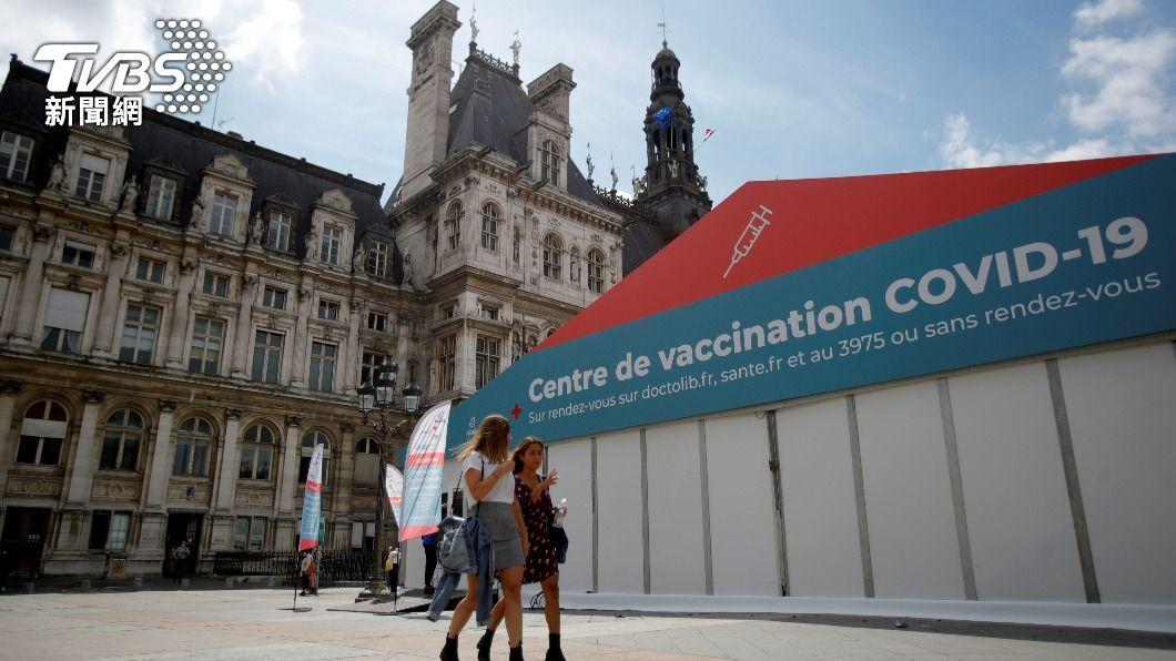 法國逾5千萬人注射至少1劑疫苗。(圖/達志影像路透社) 法國注射至少1劑新冠疫苗人數 突破5千萬