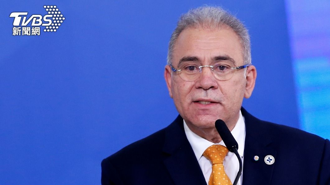 巴西衛生部長奎洛加(圖/達志影像路透社) 巴西總統不打疫苗!與官員紐約街頭吃披薩 衛生部長確診