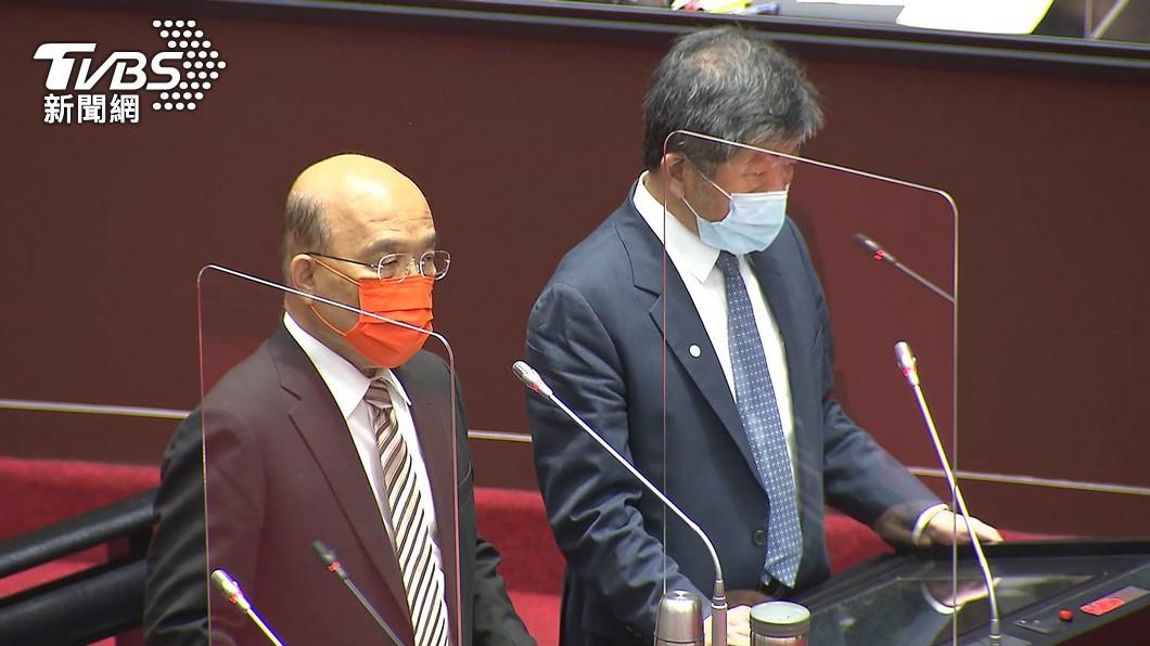 行政院長蘇貞昌。(圖/TVBS) 3+11補充報告曝光!蘇揆道歉了 不認諾富特是破口