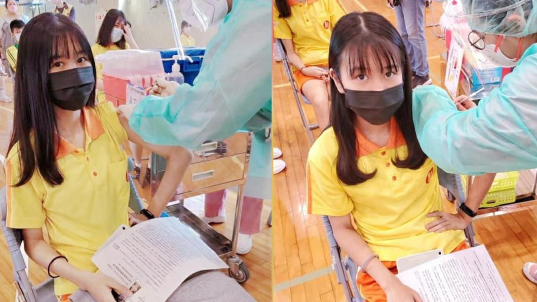 雙胞胎「樂樂媃媃」接種BNT疫苗。(圖/翻攝自雙胞胎樂樂媃媃臉書) 雙胞胎「樂樂媃媃」打BNT疫苗!姊妹副作用完全不同